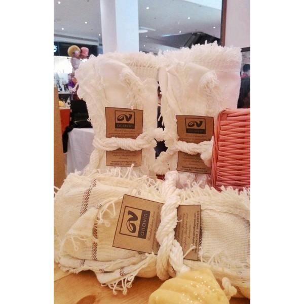 White Wasig-Semi double Inabel Blanket