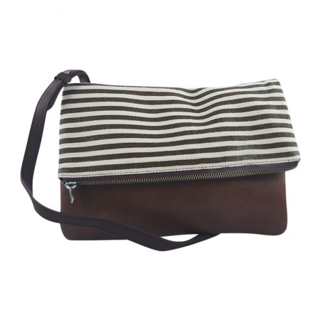 Brown and White Clutch