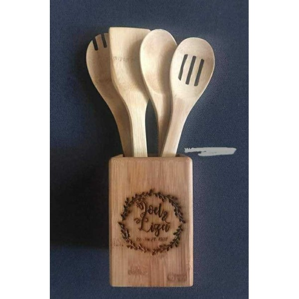 Spatula Set with Holder