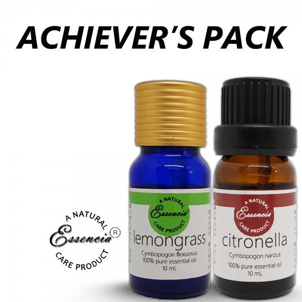 ACHIEVER'S PACK (1 pc each of Citronella and Lemongrass essentia oils)