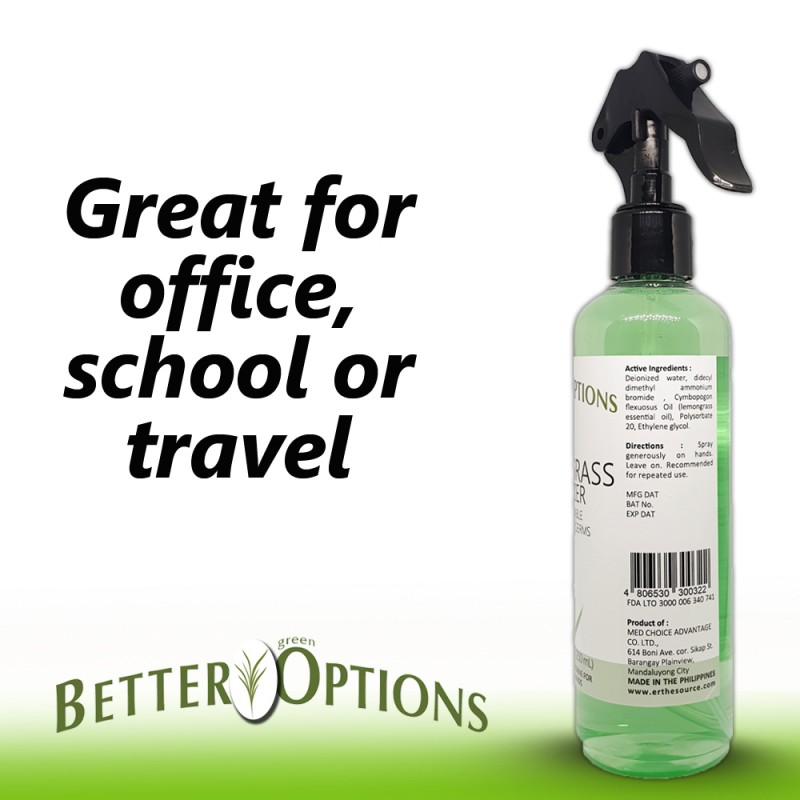 BETTER GREEN OPTIONS Sanitizer  250 mL TRIO PACK