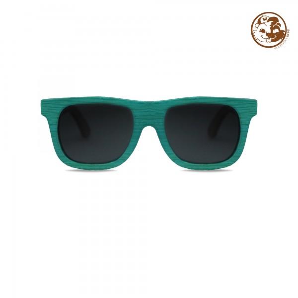 Kids' Blue Bamboo Wayfarer Sunglasses