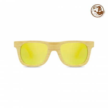 Kid's Natural Bamboo Wayfarer Sunglasses