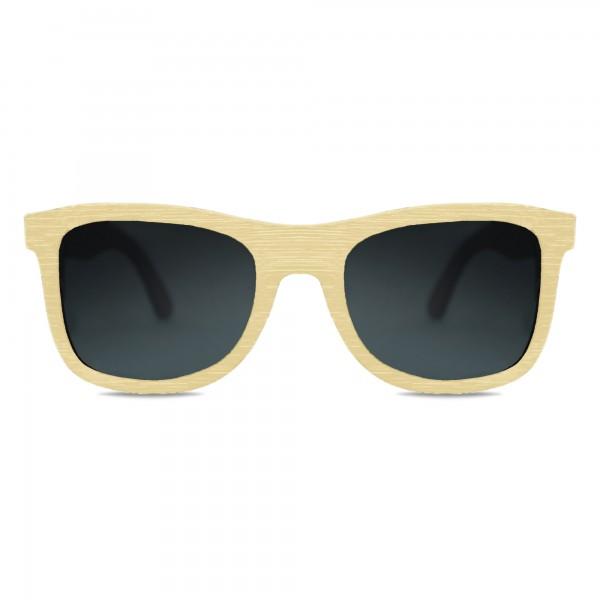 Natural Bamboo Wayfarer Sunglasses