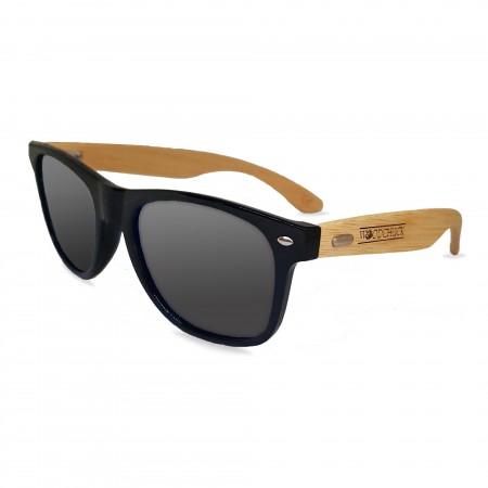 Woodie Wayfarer Sunglasses (Grey Lens)