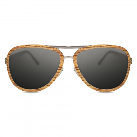 Zebrawood Aviator Sunglasses