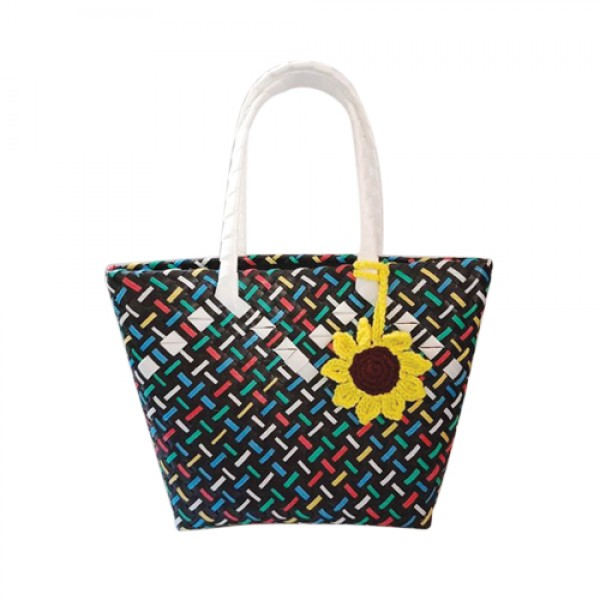 Wena's Black Patterned Bayong Bag