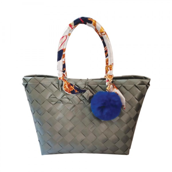 Wena's Gray Bayong Bag