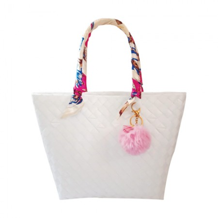 Wena's White Bayong Bag