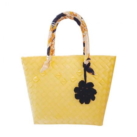 Wena's Yellow Bayong Bag