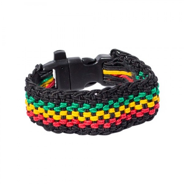 Bob Marley Survival Bracelet with Whistle